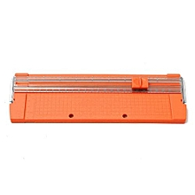 Paper Cutting Machine For A4 Manual Paper Trimmer Cutter Blades Handmade Tool (Orange)
