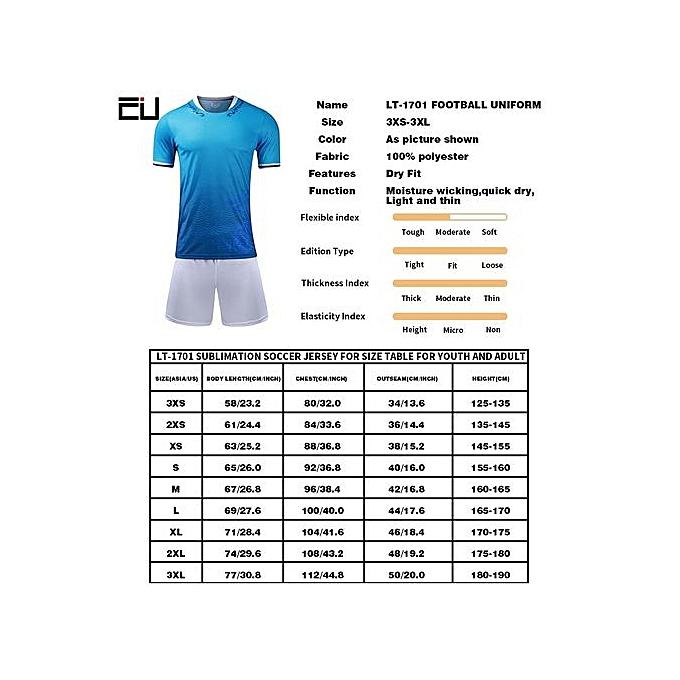 27d9ef8fc ... New Customized Children Boy And Men s Football Soccer Team Sport Jersey  Set-White(LT