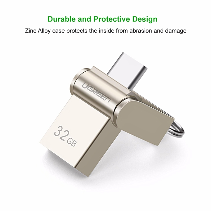 ... UGREEN 32GB OTG Drive Type-C USB 3.0 Memory Stick Pen Drive Key Chain U