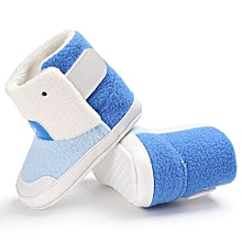 bluerdream-Baby Girl Boys Soft Sole Booties Snow Boots Infant Toddler Newborn Warming Shoes-Blue