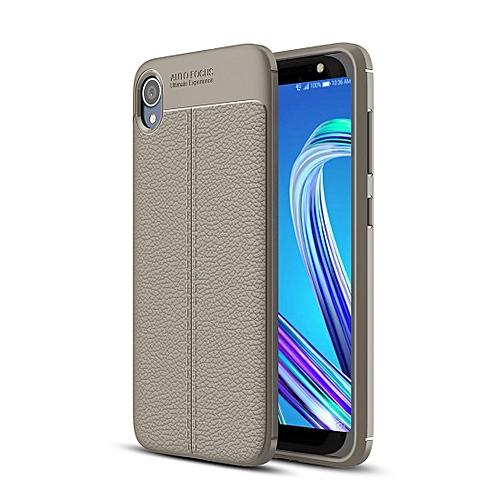 timeless design 5a716 e0693 Litchi Texture TPU Shockproof Case for ASUS ZenFone Live (L1) ZA550KL (Grey)
