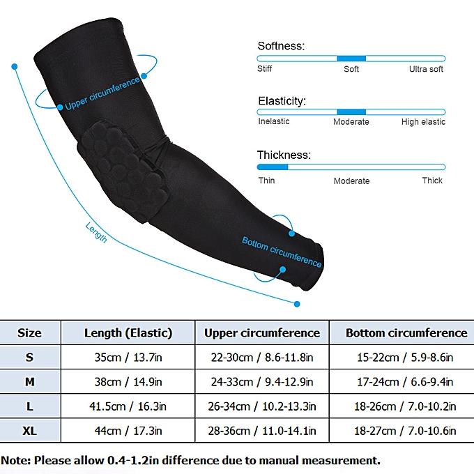 01aa3b80b8 ... Lixada 2PCS Arm Sleeve Pad Basketball Elbow Support Guard Protector  Sports Compression Cellular Protective Sleeve Pad ...