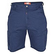 Navy Mens Cargo Pockets Shorts