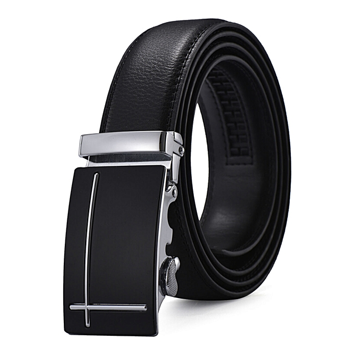 aa71101c8 Leather Belts For Men, Black Ratchet Genuine Leather Dress Belt with Automatic  Buckle Fit 20