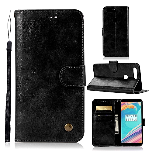 huge discount 6bedd 90ba8 Casing For OnePlus 5T / 1+5T,Reto Leather Wallet Case Magnetic Double Card  Holder Flip Cover