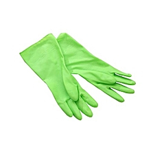 Cleaning Long Sleeve Rubber Kitchen Wash Dishes Dishwashing Gloves - Green