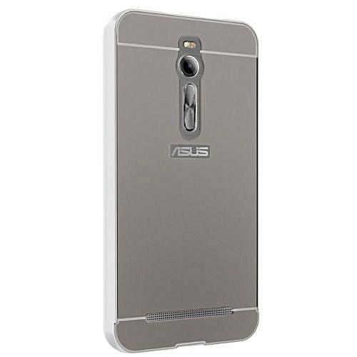 Moonmini Hard PC Cover Mirror Metal Frame Bumper Case For ASUS ZenFone 2  ZE550ML / ZE551ML 5 5 Inch (Color:c0)