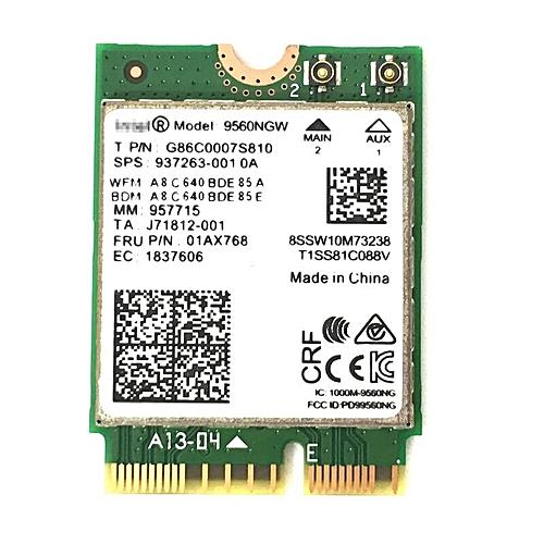 New Dual-Band Wireless AC 9560 for Intel 9560ngw 802 11ac NGFF 2 4G / 5G  2x2 Wi-Fi Card Bluetooth 5 0 NGFF /M 2(9560NGW)