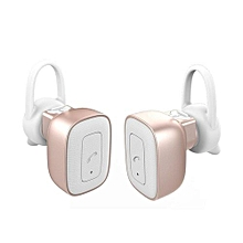 True Wireless Headphones Bluetooth Stereo Earbuds with Mic Dual Cordless Earphones Noise Cancelling Sweatproof Headset - Rose Gold