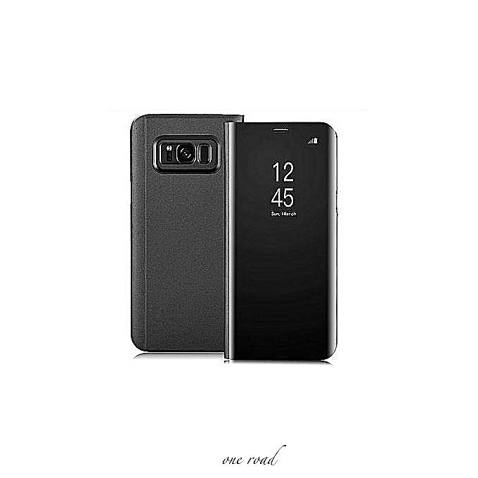 Clear View Flip Case For Galaxy S8 Plus (NO SENSOR) (Magnetic Version) And  Screen Protector