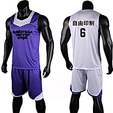 3a18b2bf7 Eufy Double Side Men s Customized Team Basketball Sport Jersey Uniform -Blue(XYH-3028)