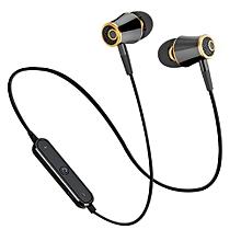 Sports Wireless Bluetooth Earphone Headset Bass Stereo Running Black