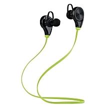 RQ8 Wireless Bluetooth 4.1 Stereo Earphone Fashion Sport Running Sweatproof Music Headset(Green)