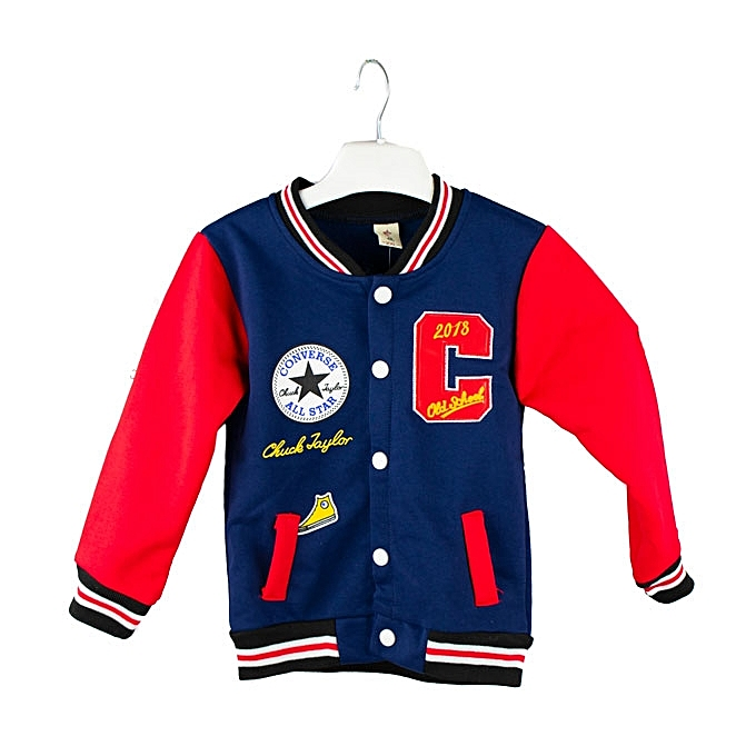 495a553fffde Generic Navy Blue and Red College Jacket for Boys and Girls   Best ...