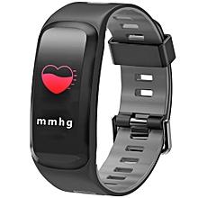 NO.1 F4 Colorful Sports Smart Bracelet IP68 Waterproof Heart Rate / Sleep / Blood Pressure / Blood Oxygen Monitor - GRAY