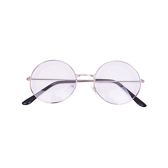 0909008aac 2019 New Classic Vintage Glasses Frame Round Lens Flat Myopia Optical Mirror  Simple Metal Women/
