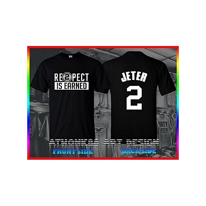 Respect Is Earned T-shirt Re2pect Derek Jeter Captain Ny Yankees T-shirt 4cb949c934f