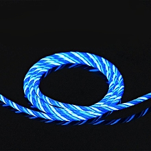 Flowing LED Charging Data Sync Mobile Phone Line Chasing Light Cable Charger blue