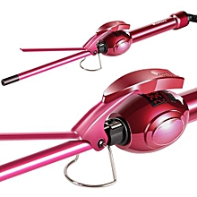 MARSKE Hair Curler Hair Iron, Curling Iron Wand Professional Super Tourmaline Ceramic Barrel Small Slim Tongs For Short And Long Hair (EU Plug):Red