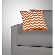 Orange Throw Pillow-Zig Zag Pattern