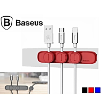 BASEUS Peas Magnetic Cable Organizer USB Cord Holder Wire Management Clip Cable (Red) LJMALL