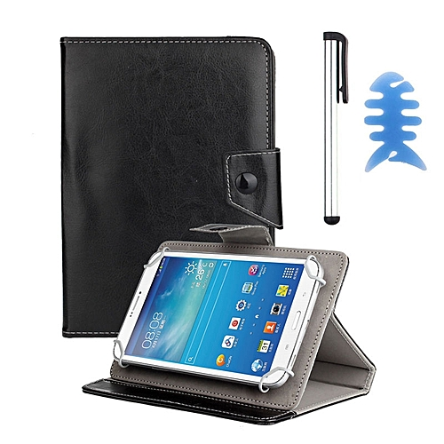 Universal Leather Cover Case For Alcatel OneTouch POP 7 Tablet +Pen BK