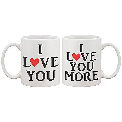 Buy Generic Valentine S Day Pair Of Gift Coffee Mugs For Her And Him