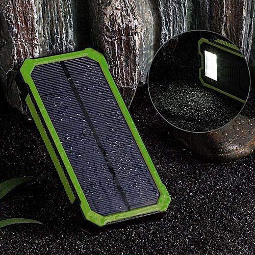 12000mAh LED Dual USB Ports Solar Panel Power Bank Case Charger DIY Kits Box