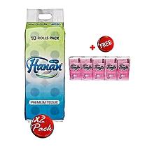 10 Pack Tissues x 2 + FREE Hanan Pocket Tissues