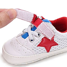 bluerdream-Baby Shoes Girl Newborn Crib Soft Sole Shoe Sneakers-Red