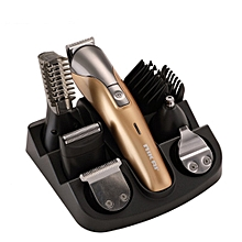 7-in-1 Multi-Function Rechargeable Retro Oil Head Electric Clipper Gold