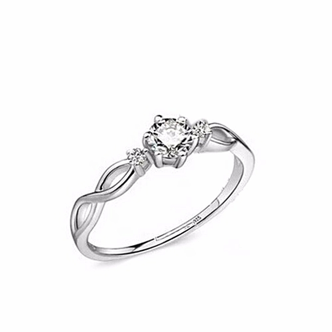 8bea4fcc0 Hot Sale 1pc Fashion Silver Plated Love Intertwined Opening Adjustable  Rhinestone Couple Ring Drop Shipping Women