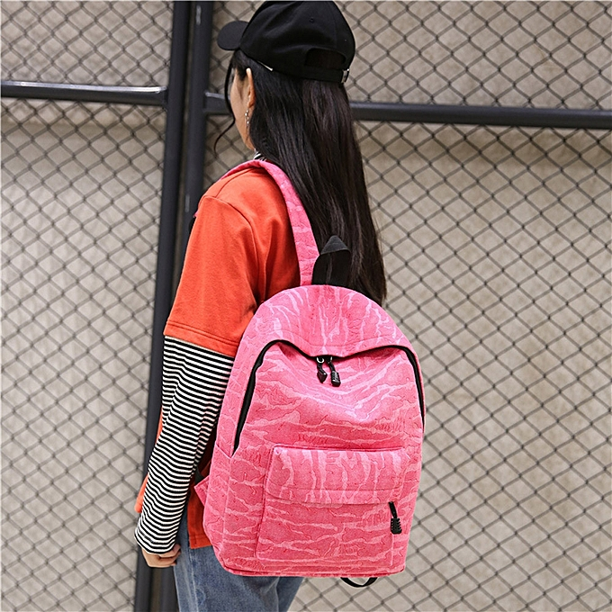 Africanmall store Fashion Unisex Casual Travel Satchel Shoulder Backpack PK- Pink 14a960cc31a63
