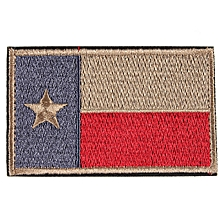 STATE of TEXAS 3D Military Embroidered Trim Patch Armband Badge Patches