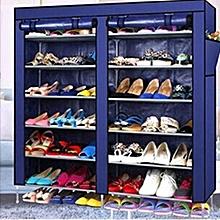 Portable Shoeracks-Navy blue