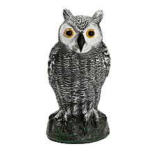 New Fake Standing Owl Hunting Shooting Decoy Deterrent Repeller Garden Decor NEW