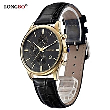 80061 Woman Luxury Brand Quartz Watch Casual Leather Watches Female Watcesh with Date Calendar Waterproof - Multicolor