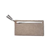 Grey Sling Purse - Short Strap