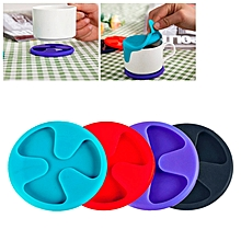 Anti-slip Silicone Red Wine & Tea &  Cup Mat / Cup Lid, Random Color Delivery