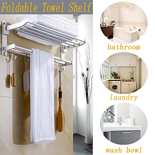 Buy Generic Wall Mounted Towel Rack Holder Hook Hanger Bar Shelf