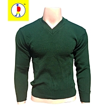 Dark Green School Sweater