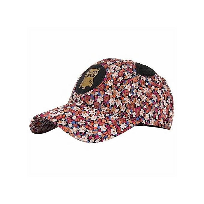 fd68bd50d62 Buy Eissely Women Owl Floral Printing Baseball Cap Snapback Sun Hat ...