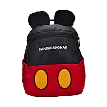 CO Lovely Cute Cartoon Mouse Children Backpack Durable Oxford Cloth School Bags-red & black