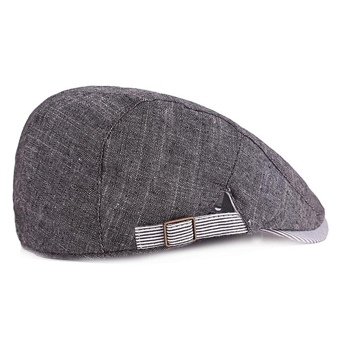 ... Men Cotton Beret Hat Buckle Adjustable Paper Boy Newsboy Cabbie Golf  Gentleman Cap ... b52294532667