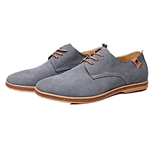Men Dress Shoes New Fashion Lace-Up Spring Autumn Man Causal Flat Genuine Leather Oxford Man Shoe Size 42-47 Hot Sale