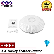 [Buy 1 Get 1 Free Turkey Feather Duster] USB Rechargeable Smart Sweeping Robot Mini Cleaning Machine Vacuum Dust Cleaner