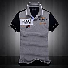 New Cotton AERONAUTICA MILITARE Air Force One polo shirt Embroidery Aeronautica Men Military polo shirt-grey