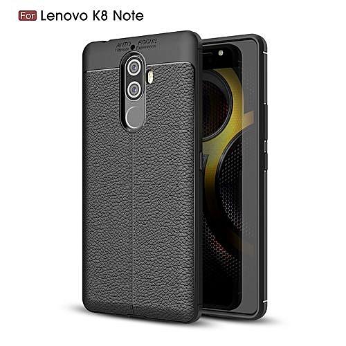 Lenovo K8 Note Silicone Case Litchi Pattern TPU Cover For Lenovo K8 Note -  Black