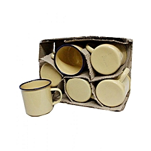 12 Piece Mabati Cup Set - Yellow