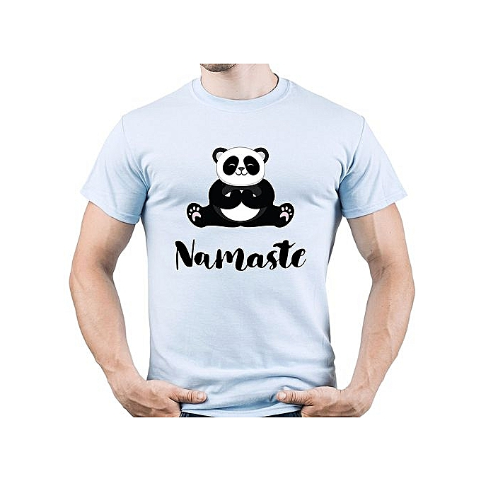 a6f48eb5 Namaste Shirt Funny Yoga Tshirt Panda Yoga Tee Lotus Asana Men's T-Shirt